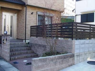 目かくしの方法を考えてほしい!|「ブロック+フェンス」の組合せ